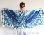 Beautiful Bohemian Blue Wing Shawl Makes You Look Divine