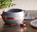 Elegant Brazilian Soapstone Lidded Pot Collection Helps Reduce Cooking Time