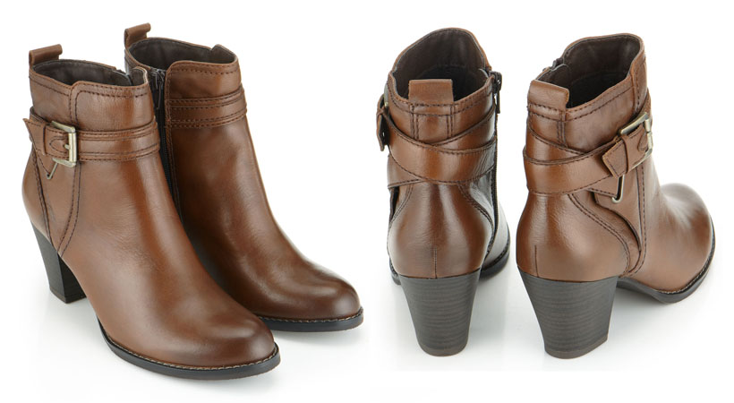 Copenhagen Buckle Trim Strap Ankle Boot