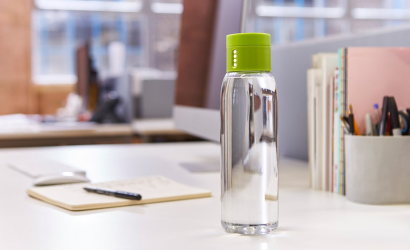 JosephJoseph Dot Water Bottle with Hydration Counting Lid