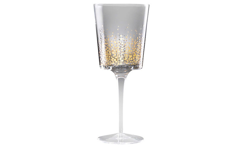 Elegant Fitz and Floyd Gold Luster White Wine Glass to Impress Your Guests
