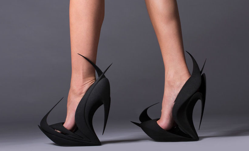 Limited Edition Flame Shoes by Zaha Hadid