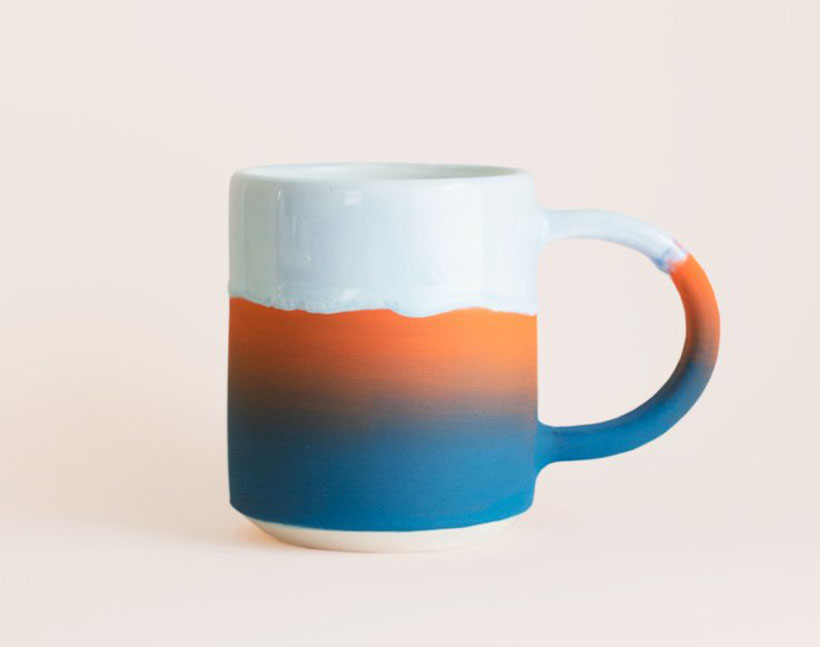 Gorgeous Slush 16oz Mug Reminds You of Sunset at Blue Ocean by Willowvane