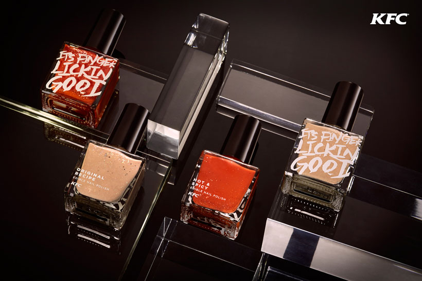 KFC Finger Lickin' Good Edible Nail Polish : Good or Disgusting?