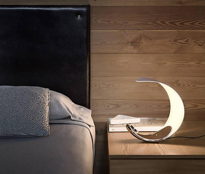 Luceplan Curl Table Lamp By Sebastian Bergne