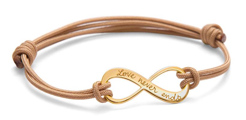 Merci Maman Personalised Infinity Bracelet