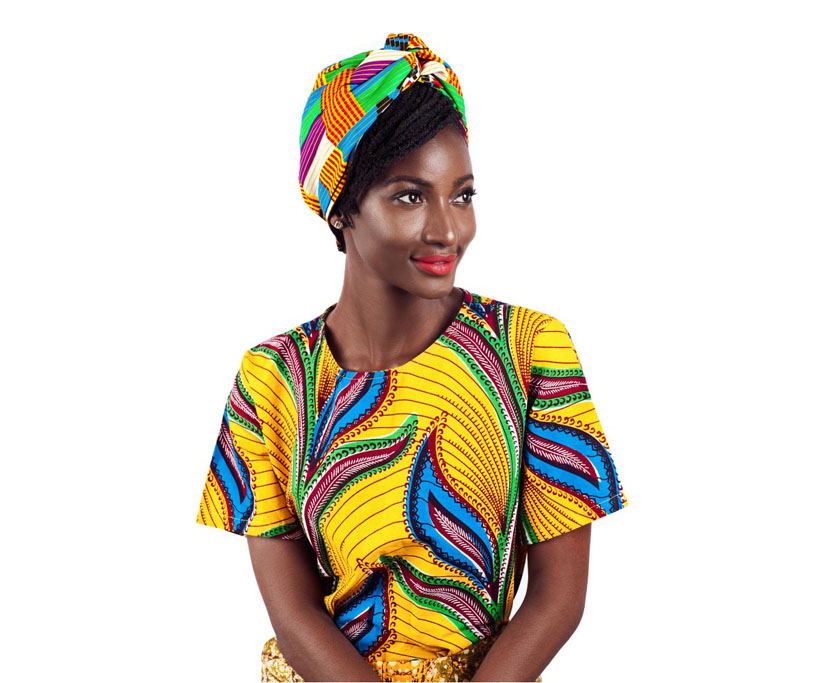 Rainbow African Print Turban