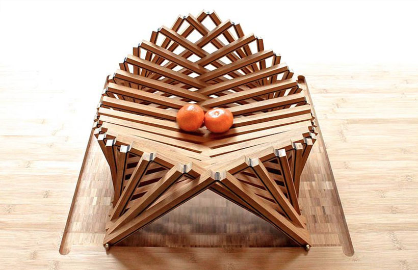 Rising Shell Wooden Fruit Bowl by Robert van Embricqs