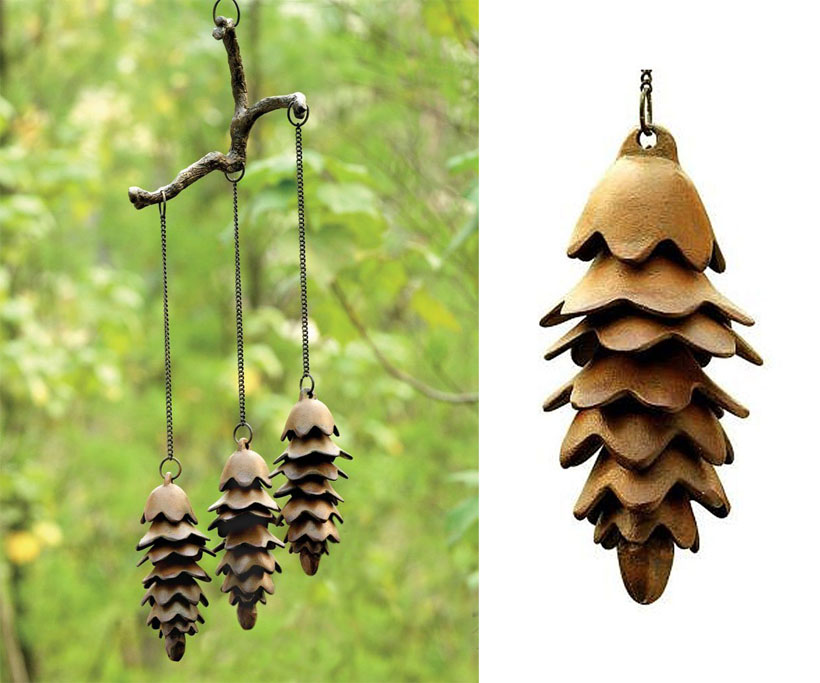SPI Home 32725 Triple Pinecone Iron Wind Chime