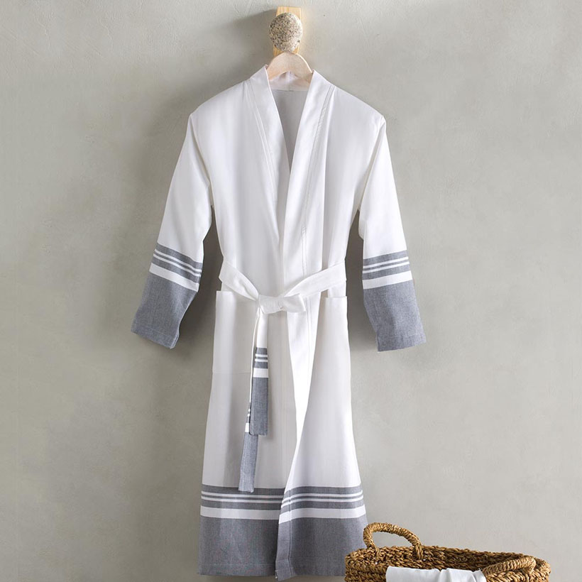 Turkish Cotton Striped Bath Robes