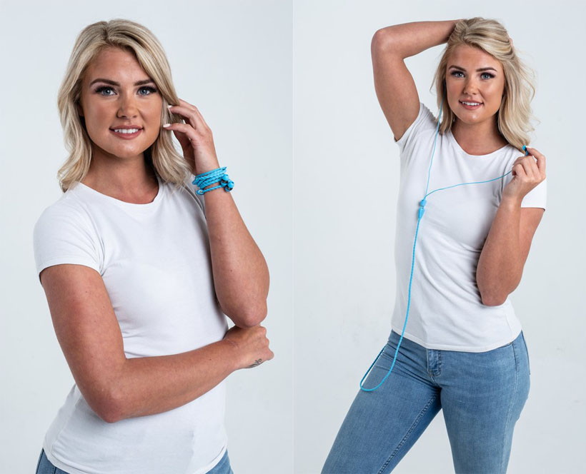 Wraps Talk Series - Wearable Braided Wristband Headphones for Music On-The-Go
